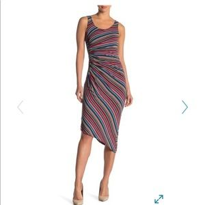 Bailey 44 multi stripe midi dress